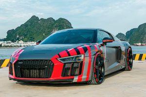 CAR PASSION 2019: Cận cảnh siêu xe Audi R8 V10 Plus với bộ đề can 'thửa riêng' của doanh nhân Nguyễn Quốc Cường