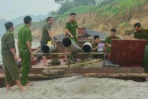 Ngăn chặn tình trạng khai thác cát trái phép trên sông Lô
