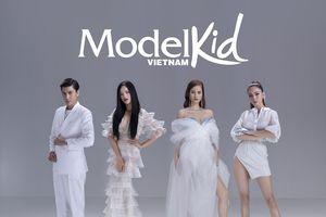 Á hậu Mâu Thủy khoe chân dài, đọ dáng cùng dàn HLV Model Kid Vietnam
