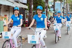 Thí sinh Miss World Việt Nam 2019 diễu hành xe đạp kêu gọi bảo vệ môi trường