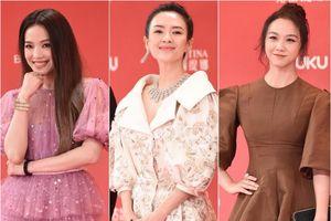 'Bom sex' Thư Kỳ đọ dáng cùng 'mỹ nhân cảnh nóng' Thang Duy trên thảm đỏ