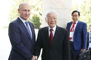 Tổng Bí thư, Chủ tịch nước Nguyễn Phú Trọng và Tổng thống Nga Putin trao đổi điện mừng