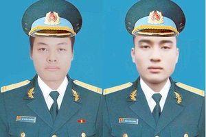 Thăng quân hàm 2 phi công hy sinh khi làm nhiệm vụ tại Khánh Hòa