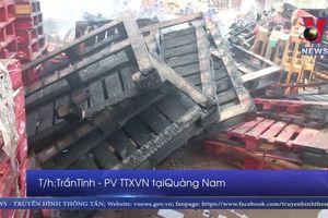 Cháy xưởng gỗ lớn tại Quảng Nam