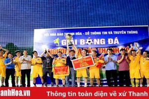 Đội Liên quân Sở Thông tin và Truyền thông vô địch giải bóng đá Người làm báo Thanh Hóa lần thứ 4 – Cúp Agribank 2019