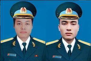Truy thăng quân hàm trước thời hạn cho hai phi công hy sinh