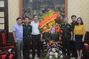 Lãnh đạo Tổng cục Chính trị thăm, chúc mừng các cơ quan thông tấn, báo chí
