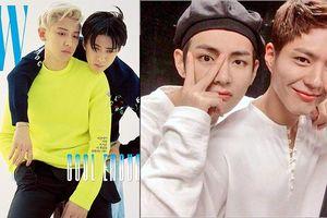 Park Bo Gum cực thân thiết với V (BTS) - Chanyeol và Sehun đẹp lung linh trên bìa tạp chí