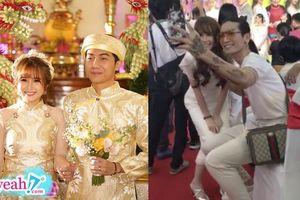 Vợ Cris Phan nhí nhảnh xin chụp hình như fans cuồng, bụng thon gọn đập tan tin đồn mang thai