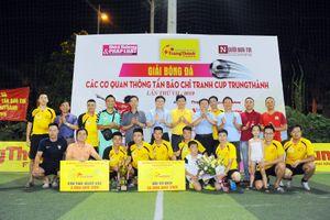 Đội bóng Báo CAND giành Cúp vô địch Giải Trung Thành 2019