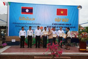 Gặp mặt Kỷ niệm 25 năm Đội qui tập mộ liệt sĩ ở 6 tỉnh Bắc Lào