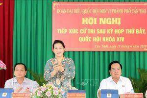 Chủ tịch Quốc hội tiếp xúc cử tri huyện Phong Điền, Cần Thơ