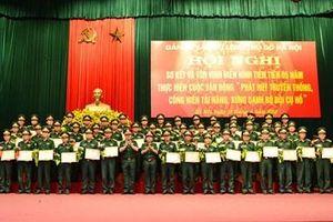 Đảng ủy, Bộ tư lệnh Thủ đô Hà Nội tôn vinh điển hình tiên tiến thực hiện Chỉ thị số 788