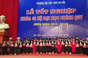 Gần 2.000 sinh viên Trường Đại học Luật Hà Nội được trao bằng tốt nghiệp