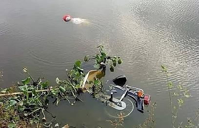 Phát hiện người đàn ông tử vong cạnh chiếc xe máy dưới hồ Miếu Rỏi