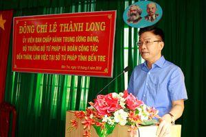 Bộ trưởng Lê Thành Long: 'Tháo gỡ' nhiều khó khăn, vướng mắc cho Tư pháp Bến Tre