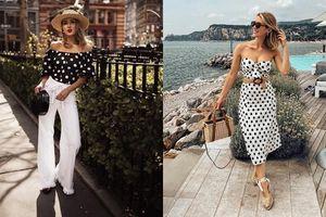 Mùa hè kiểu gì cũng phải sắm trang phục chấm bi xinh đẹp ngất ngây