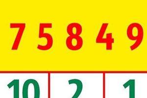 Đáp án câu đố 'hoa mắt' bởi các con số khó có người trả lời đúng