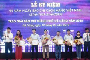 Đà Nẵng: Trao giải báo chí thành phố năm 2018