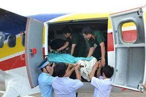 Điều máy bay trực thăng cấp cứu chiến sĩ bị đột quỵ tại Trường Sa