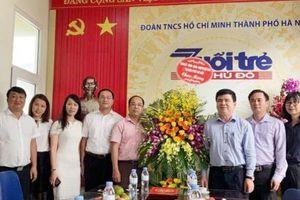 Lãnh đạo Ban Tuyên giáo Thành ủy, Thành đoàn Hà Nội chúc mừng báo Tuổi trẻ Thủ đô