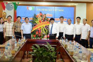 Trưởng Ban Tổ chức Trung ương thăm và chúc mừng VOV nhân ngày 21/6