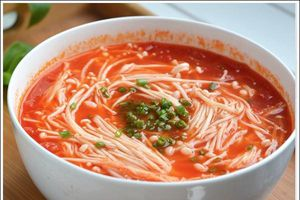 Vào bếp nấu canh cà chua nấm thơm ngon cho gia đình