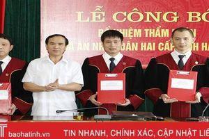 TAND tỉnh Hà Tĩnh công bố quyết định bổ nhiệm 7 thẩm phán