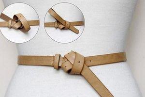 7 kiểu thắt dây lưng giúp các nàng tăng thêm điểm nhấn
