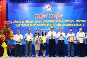 Bình Dương trao giải thưởng báo chí Nguyễn Văn Tiết năm 2018
