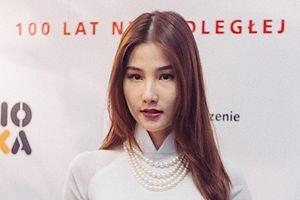 Diễm My 9x xinh đẹp với tà áo dài tại Tuần lễ phim Việt Nam ở Ba Lan