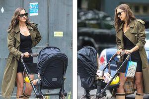 Irina Shayk mặc đồ đôi đi dạo cùng con gái cưng