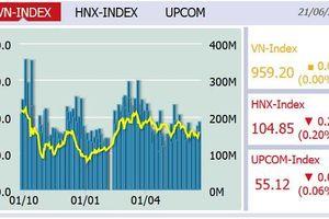 Cuối tuần, VN-Index tăng nhẹ 0,02 điểm lên 959,2
