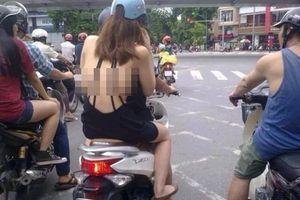 Phản cảm style 'váy hững hờ, quần chờ 1 phút' ra đường của hội chị em