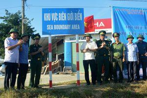 Hà Tĩnh: Hoàn thành cắm hệ thống biển báo khu vực biên giới biển