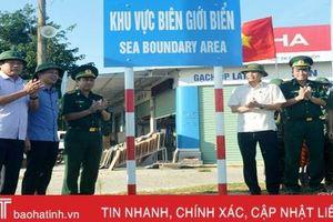 Hà Tĩnh hoàn thành cắm mốc hệ thống biển báo khu vực biên giới biển