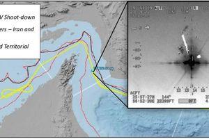 Mỹ và Iran tranh cãi về vị trí của máy bay không người lái lúc bị bắn rơi