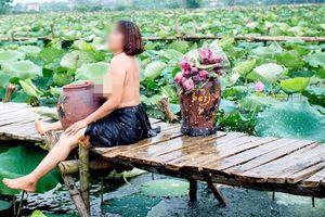 Quận Tây Hồ cấm chụp ảnh nude bên hồ sen