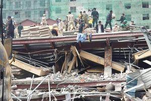 Sập nhà 7 tầng của công ty TQ ở Campuchia, 3 người chết