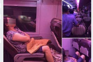 Thực hư chuyện người phụ nữ cố tình ngủ quên trên tàu: Kiểu câu like bất chấp!