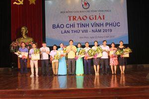 Vĩnh Phúc: Trao Giải báo chí tỉnh lần thứ VIII và Kỷ niệm chương 'Vì sự nghiệp báo chí Việt Nam'