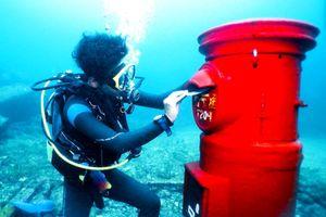 Hòm thư dưới đáy biển nhận hàng trăm bưu thiếp mỗi ngày ở Nhật Bản