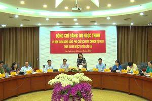 Phó Chủ tịch nước Đặng Thị Ngọc Thịnh thăm, làm việc tại tỉnh Lào Cai