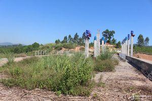 Nghệ An: Hồ chứa nước trên 200 tỷ đồng thi công dang dở, ruộng đồng khô khát