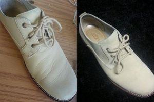 Dùng tất cũ và khăn giày thể thao có bị vết nhăn đến mấy cũng biến mất hoàn toàn