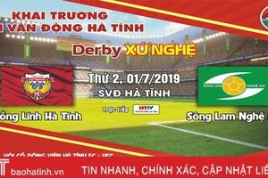 Miễn phí vé vào sân trận derby xứ Nghệ mừng khai trương SVĐ Hà Tĩnh