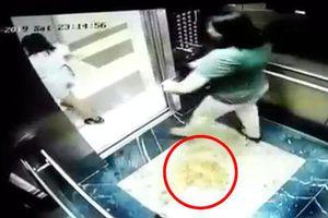 Hà Nội: Hai phụ nữ che camera trong thang máy chung cư để... 'tè bậy'