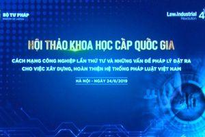 Cách mạng công nghiệp 4.0 và việc xây dựng, hoàn thiện hệ thống pháp luật Việt Nam