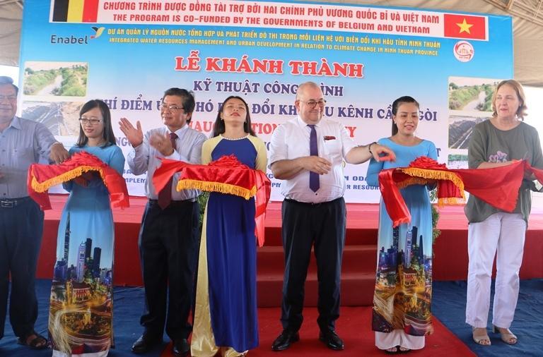 Khánh thành kênh Cầu Ngòi tại Ninh Thuận do Chính phủ Bỉ tài trợ