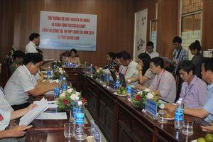 Thứ trưởng Nguyễn Thị Nghĩa kiểm tra công tác thi THPT quốc gia 2019 tại Quảng Nam